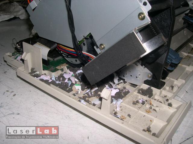 Mais um rato, desta vez numa impressora de agulhas.